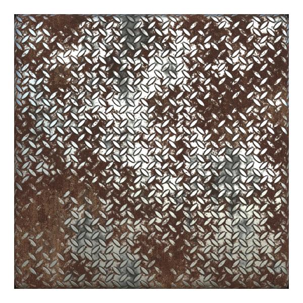 Rusty Metal Treadplate Texture with Cross Pattern   TextureCan