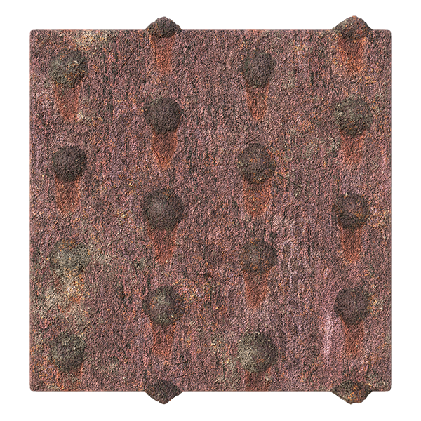 Rusty Metal Plate Texture with Round Cap Nails   Free PBR ...
